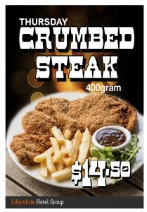 400g Crumbed Steak Special