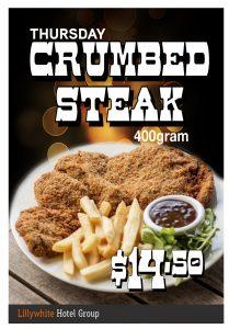 400g Crumbed Steak Special