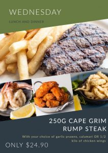 Wed. Lunch - Cape Grim Rump Steak